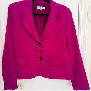 Kasper women's blazer hot pink 12 petite